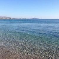 Photo taken at Kolymbia Beach by Konstantina R. on 9/3/2014