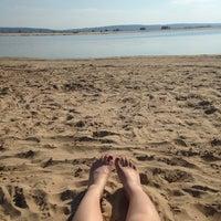 Photo taken at Пляж Волги by Aigulyaa K. on 7/2/2014