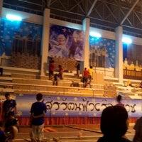 Photo taken at อาคารศูนย์กีฬาโรงเรียนจุฬาภรณราชวิทยาลัยมุกดาหาร by Dao S. on 6/28/2014