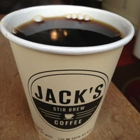 Photo taken at Jack's Stir Brew Coffee by Matthew on 2/4/2013