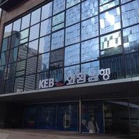 Photo taken at KEB 하나은행 by Matthew on 2/17/2014