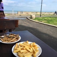 Photo taken at Капаните (The small seafood restaurants by the beach) by SuperTed on 5/3/2016