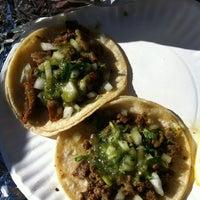 Photo taken at El Tonayense Taco Truck by Gabriela R. on 1/8/2013
