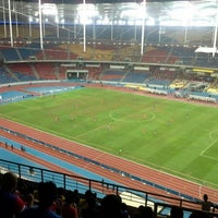 Photo taken at Stadium Nasional Bukit Jalil by faisal s. on 11/25/2012