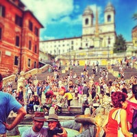 Photo taken at Piazza di Spagna by Caspar D. on 7/14/2013