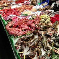 Photo taken at Mercat de Sant Josep - La Boqueria by Robin W. on 4/6/2013