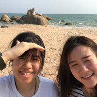 Photo taken at Nam Rin Beach by maymoriki on 1/30/2017
