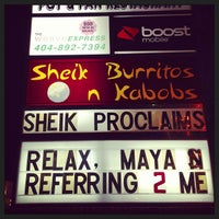 Photo taken at Sheik Burritos and Kabobs by Carl B. on 12/22/2012