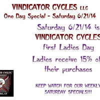 Photo taken at Vindicator Cycles by Staci B. on 6/21/2014