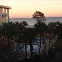 Photo taken at Beach Club Hotel Saint Simons Island by Ashley N. on 12/27/2012