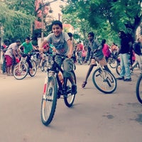 Photo taken at Defence Colony by Cycling B. on 8/1/2014