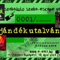 Photo taken at E-Exit Escape Room/Szabadulószoba by Szilárd S. on 9/12/2014