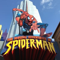 Photo taken at The Amazing Adventures of Spider-Man by Jo  G. on 5/4/2013