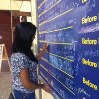 Photo taken at Before I Die Wall (UCSD) by Melanie V. on 9/28/2014