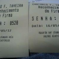 Photo taken at Cartório Francisco Taveira by Eduardo T. on 5/16/2012
