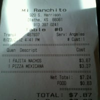 Photo taken at Mi Ranchito Cocina & Cantina Mexicana by Mindy W. on 8/23/2012