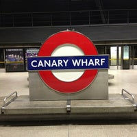 Photo taken at Canary Wharf London Underground Station by Alan B. on 1/5/2013