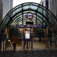 Photo taken at Canary Wharf London Underground Station by Alan B. on 12/10/2012