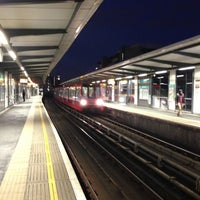 Photo taken at Limehouse DLR Station by Alan B. on 4/17/2013