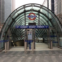 Photo taken at Canary Wharf London Underground Station by Alan B. on 1/8/2013