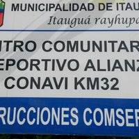 Photo taken at Centro Comunitario Y Deportivo Alianza by David A. on 8/10/2014