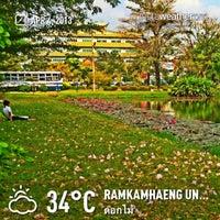 Photo taken at Ramkhamhaeng University by LOMTaLay_BB on 4/4/2013