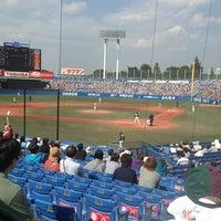 Photo taken at Meiji Jingu Stadium by yu on 6/8/2013
