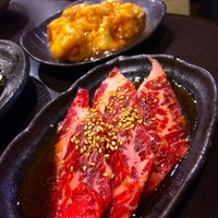 Photo taken at 炭火焼肉ギュービッグ by taq_n on 5/22/2014