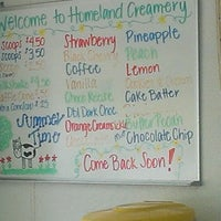 Photo taken at Homeland Creamery by Kyle S. on 4/21/2013