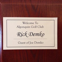 Photo taken at Algonquin Country Club by Rick D. on 8/30/2014
