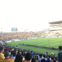 Photo taken at Estadio Morelos VIP by Roberto L. on 4/5/2017