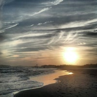 Photo taken at 19th Street Beach by Ben S. on 10/25/2012