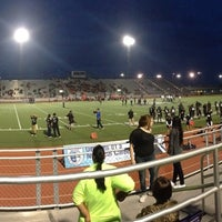Photo taken at Bobby Lackey Stadium by Marcela P. on 9/13/2014
