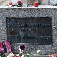 Photo taken at Tombe de Jim Morrison by Stratos T. on 5/18/2013