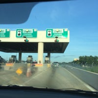 Photo taken at Beachline West Barrier Toll Plaza by Bernt E. on 6/29/2017
