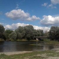 Photo taken at Воїнський пляж by Oksana N. on 8/17/2014