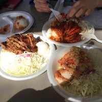 Photo taken at Hono's Shrimp Truck by RACHEL YoungW L. on 1/10/2015