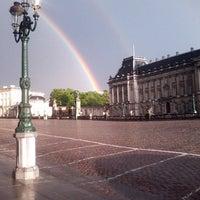 Photo taken at Paleizenplein / Place des Palais by Erhun A. on 5/12/2013