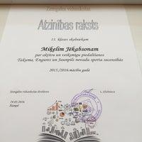 Photo taken at ZeVid Sporta Zāle by Krista S. on 5/19/2016