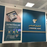 Photo taken at Oman Air Check-in by Léon on 1/14/2018