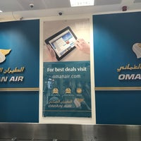 Photo taken at Oman Air Check-in by Léon on 1/3/2018