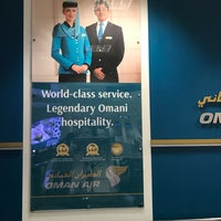 Photo taken at Oman Air Check-in by Léon on 3/2/2018