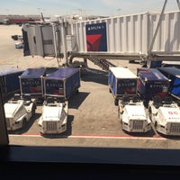 Photo taken at Gate B34 by Dink C. on 4/18/2016