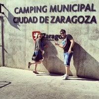Photo taken at Camping Ciudad de Zaragoza by Paula R. on 9/13/2013