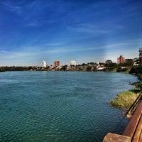 Photo taken at Beira Rio by Beira R. on 6/27/2014