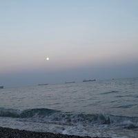 Photo taken at Sarısu Kadınlar Plajı by N. P. on 10/10/2014