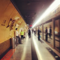 Photo taken at MTR Sheung Wan Station by Maria M. on 6/5/2013