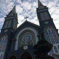 Photo taken at Nhà thờ Chánh toà Phú Cường by benedictus h. on 7/1/2017