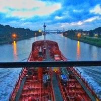 Photo taken at Kiel Canal by Mustafa A. on 8/13/2016
