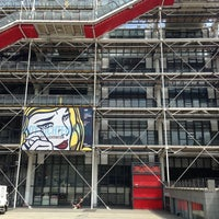 Photo taken at Place Georges Pompidou by Anne B. on 7/16/2013